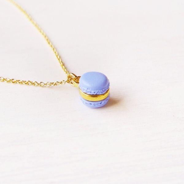 Mini Purple Macaron Necklace