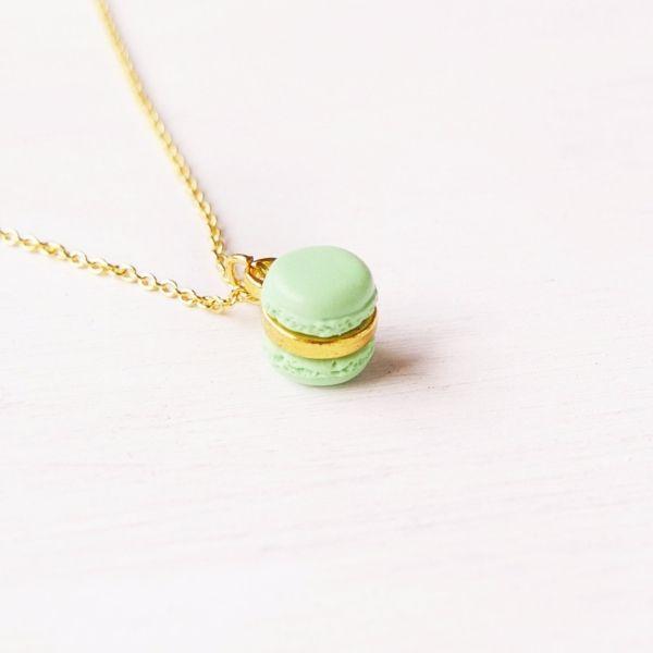 Mini Mint Macaron Necklace