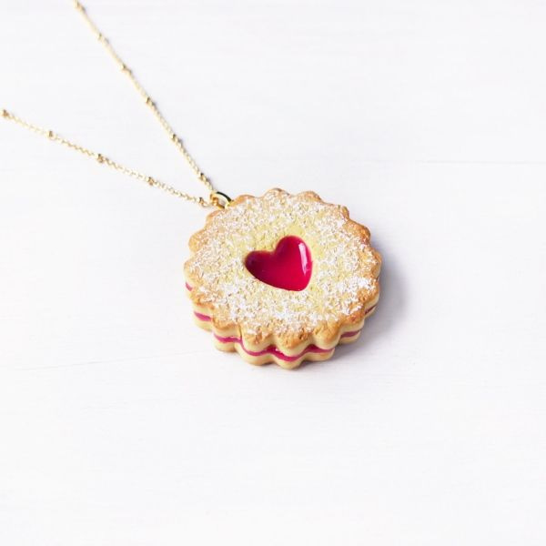 Strawberry Jam Cookie Necklace