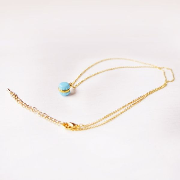 product image for Mini Blue Macaron Necklace