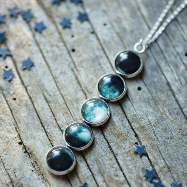 Moon Phase Pendant Necklace