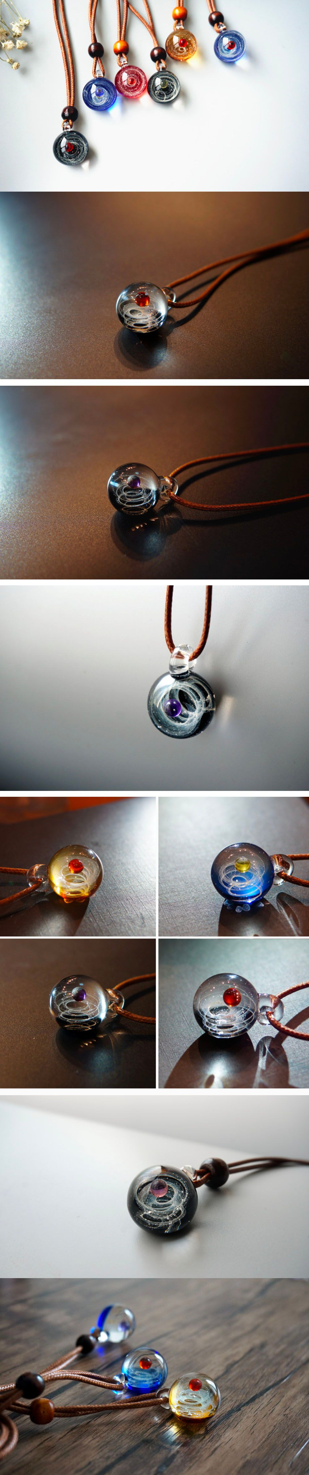 Cosmic Pendant Necklace Galaxy Collection