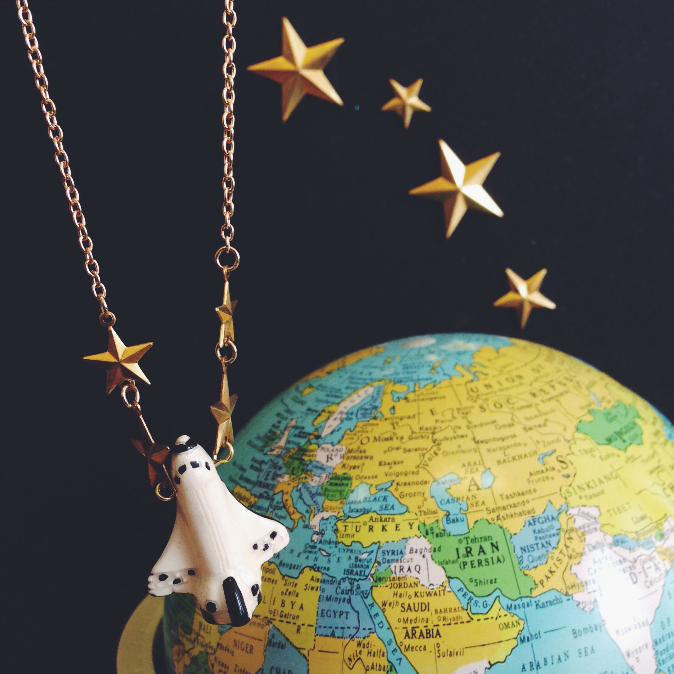To Infinity! Space Shuttle Necklace