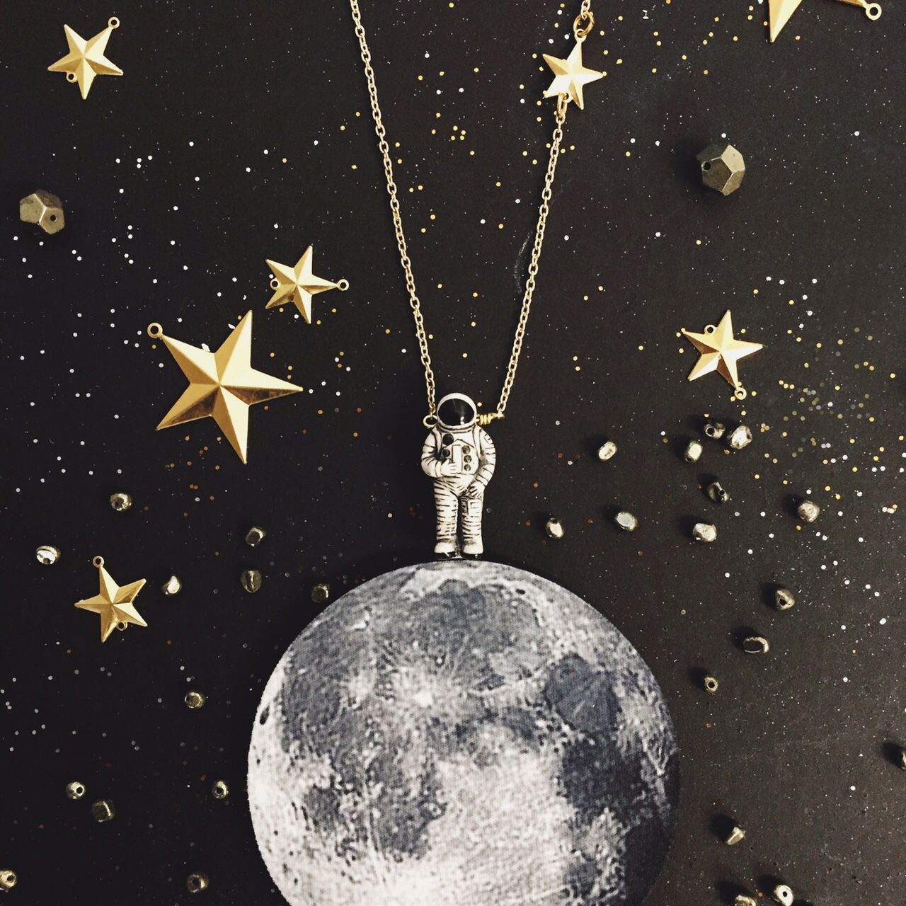 I Just Need Some Space, Man! Astronaut Necklace
