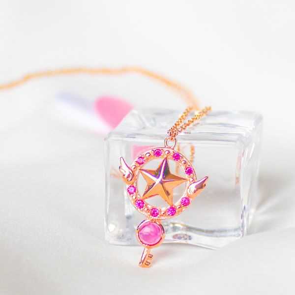 Anime Cardcaptor Sakura Star Wand Necklace