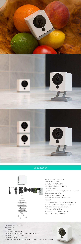 WyzeCam V2 Magnetic Smart Home Camera