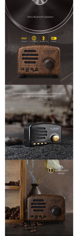 Retro Radio Bluetooth Speaker Miniature Design