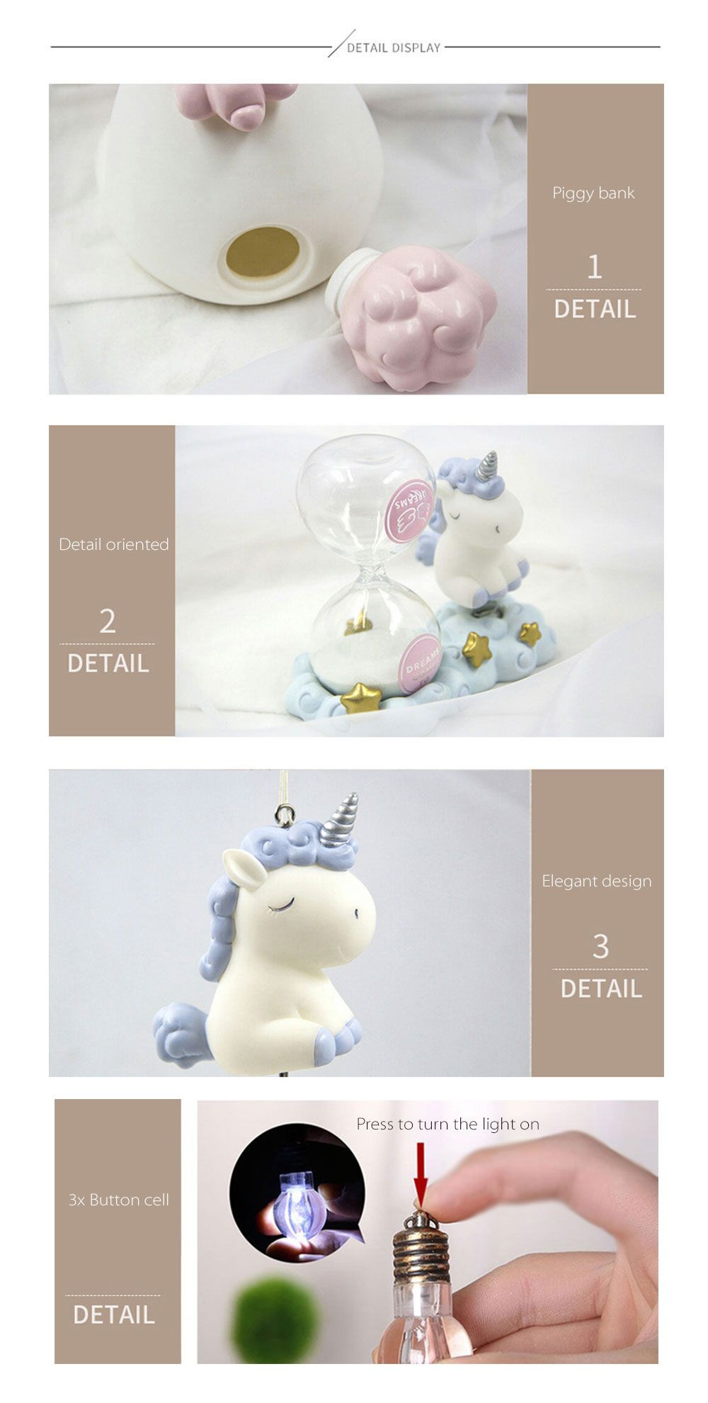 Unicorn Table Ornament A Touch of Magic