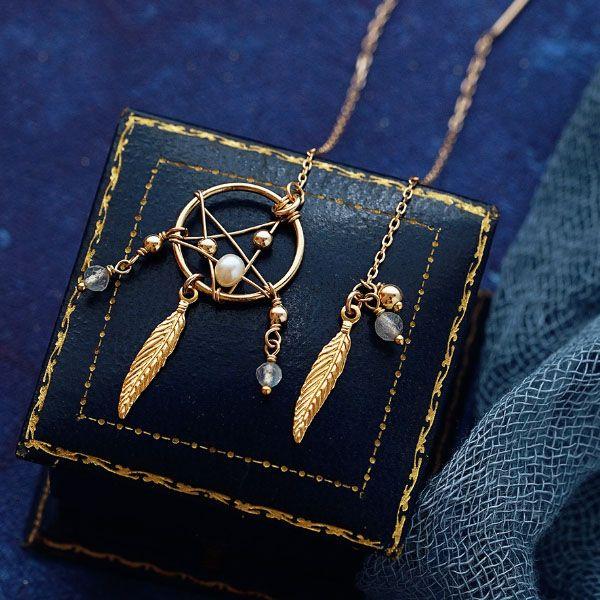 Pearl Dream Catcher Earrings