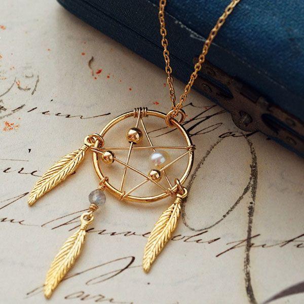 Pearl Dream Catcher Necklace