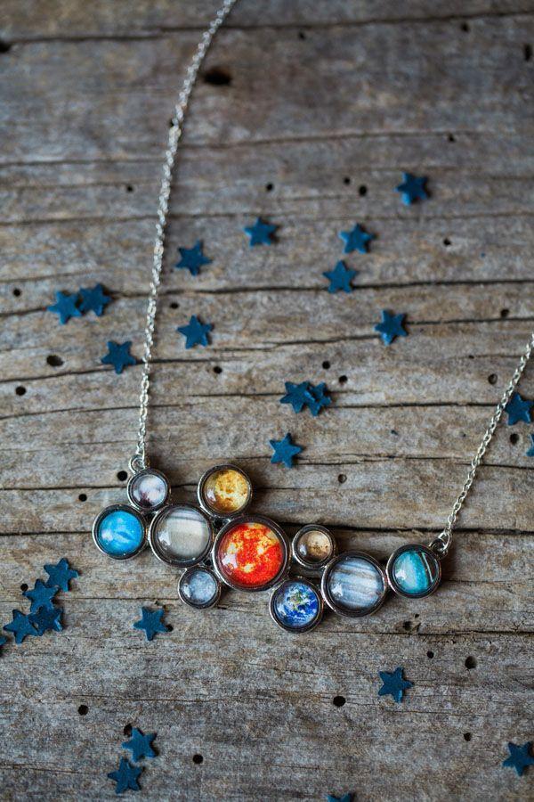 Solar System Bib Necklace Stellar Style!