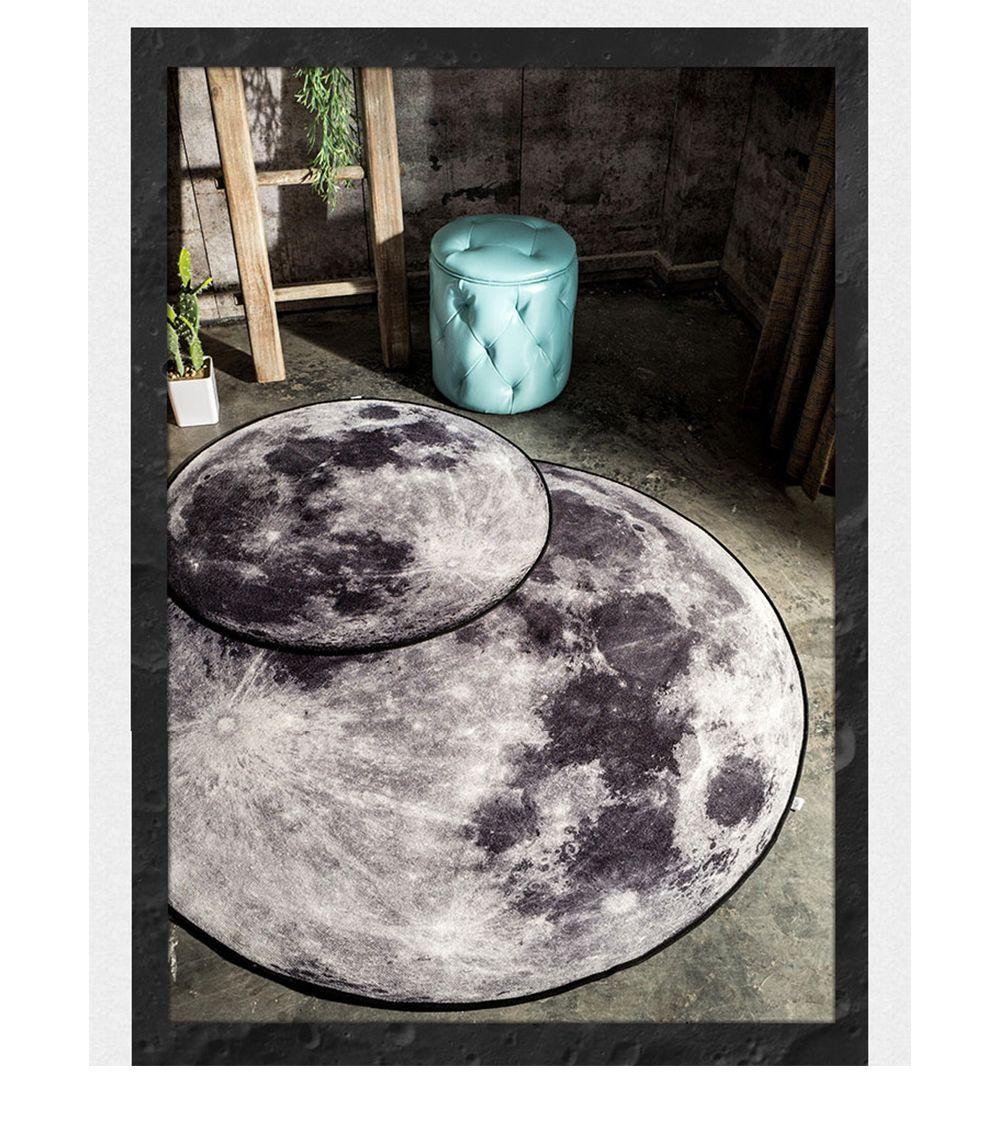 3.0 Feet 3D Moon Area Rug Cosmic Floor Fashion