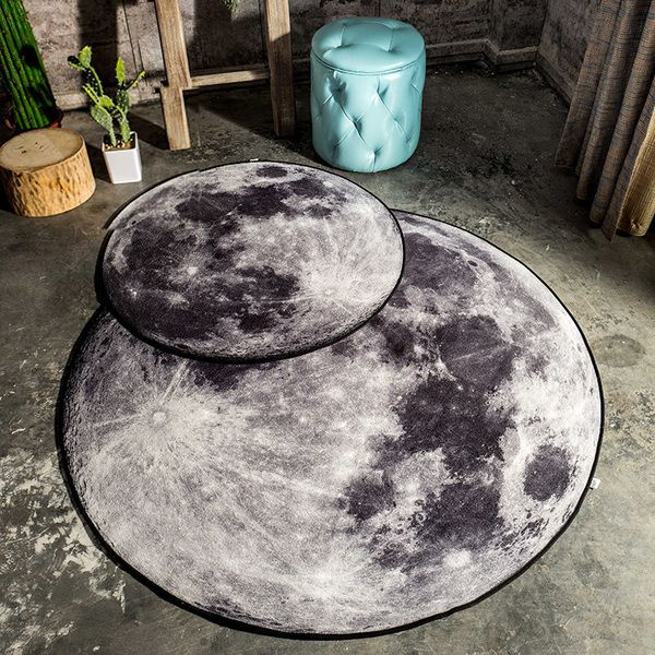 product image for 3.0 Feet 3D Moon Area Rug