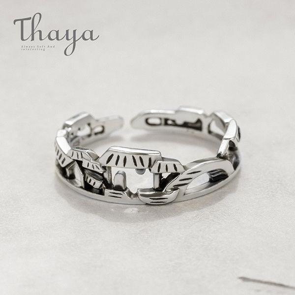 Thaya Ancient Jiangnan View Miniature Singer Ring