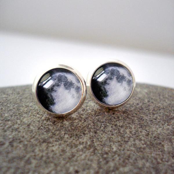 Birth Moon Small Stud Earrings