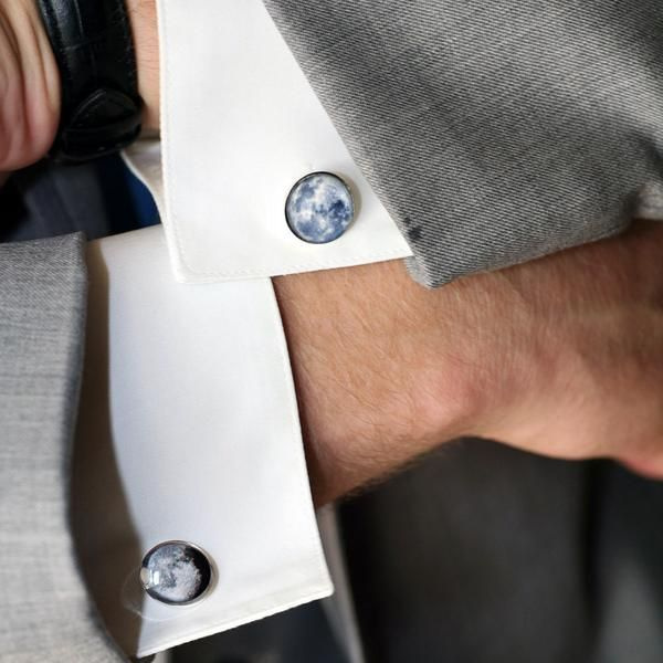 Birth Moon Cuff Links Customized moon phase from your important date!