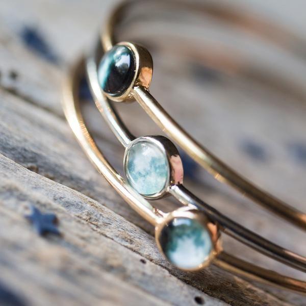 Customized Birth Moon Stacking Bangle Bracelet