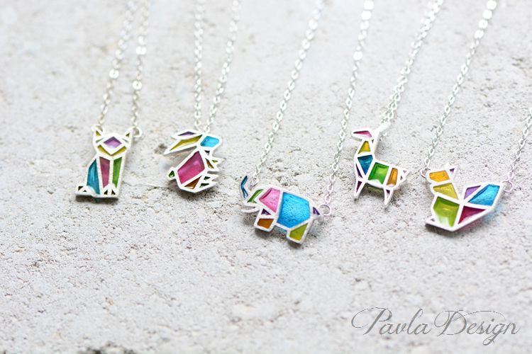 product image for Colorful Creatures Silver Necklace