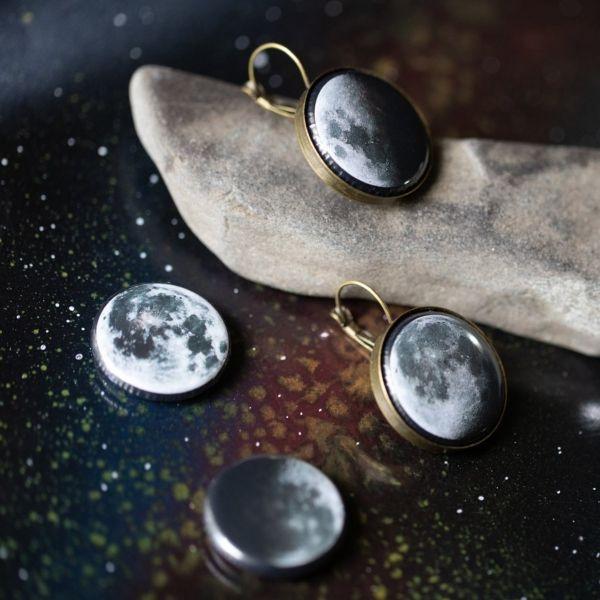 Interchangeable Moon Phase Earrings