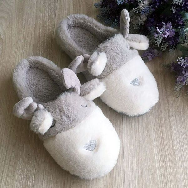 Cute Reindeer Slippers
