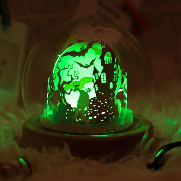 DIY Haunted House Paper Art Light