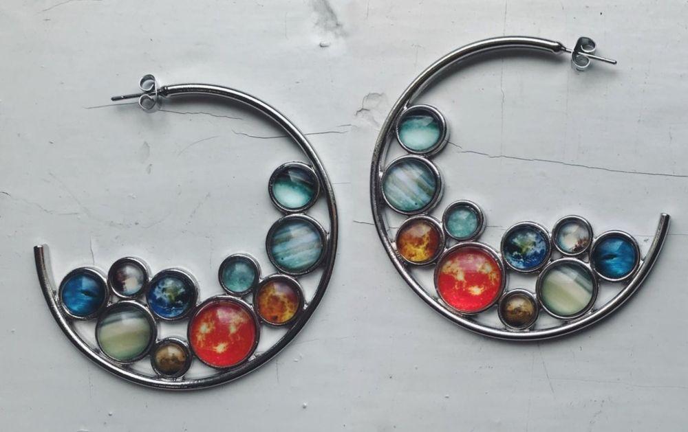 Solar System Hoop Earrings
