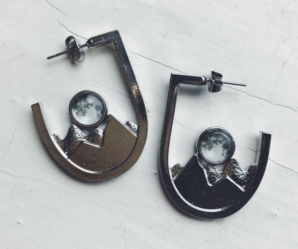Galaxy Mountain Range Earrings