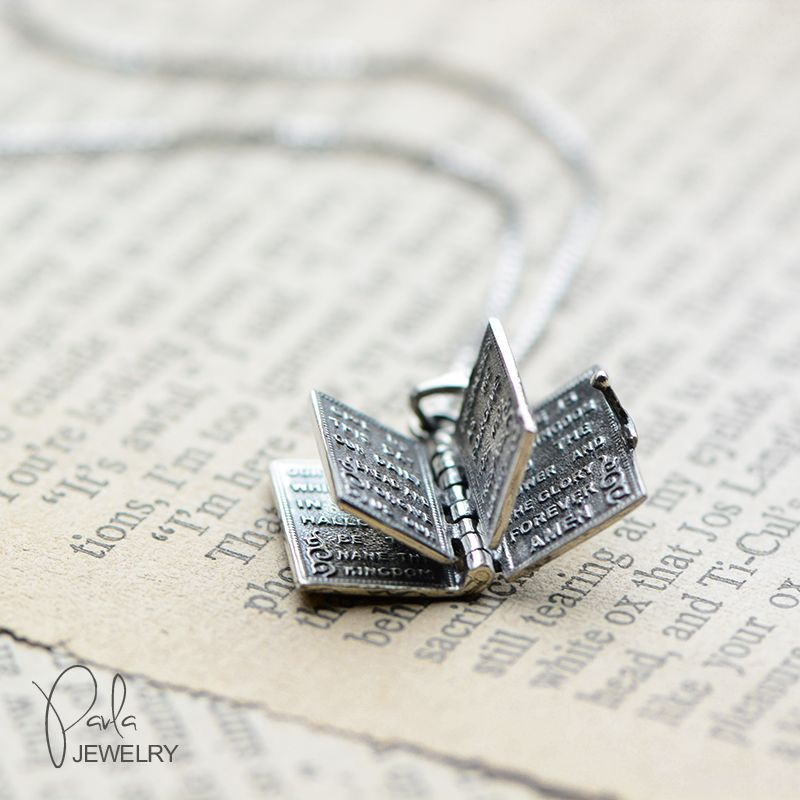 Hinged Holy Bible Necklace