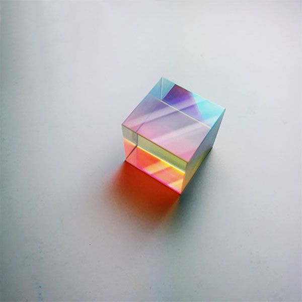 Clear Optical Glass Cube