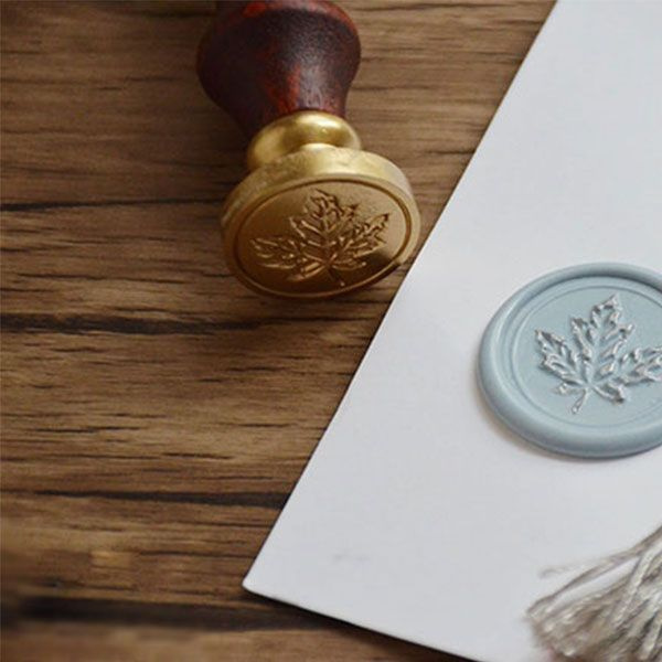 product thumbnail image for Maple Wax Seal Stamp Set