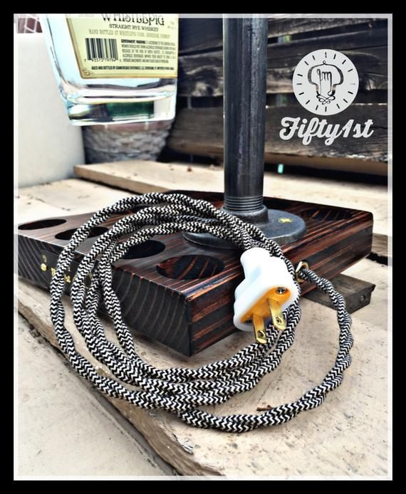 """Industrial Table Lamp """"Here Piggy"""" Rustic Light"""
