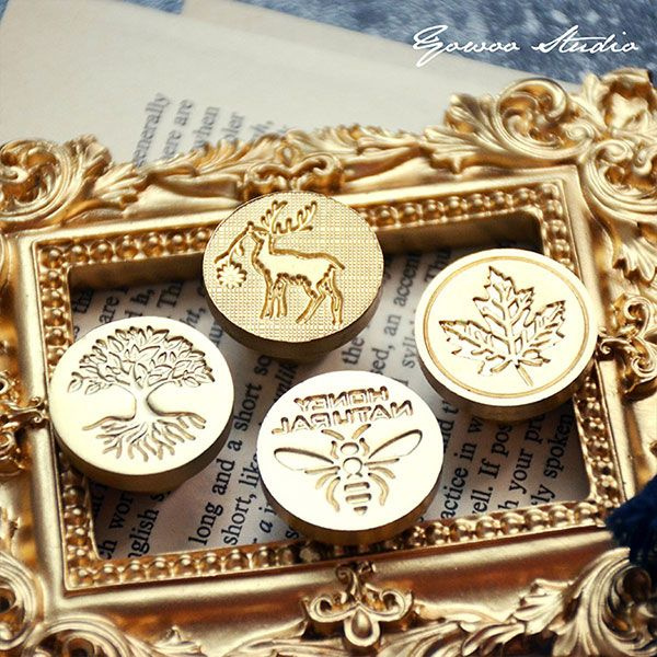 product image for Maple & Bee Wax Seal Stamp Set