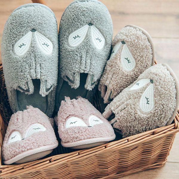 Fox Cotton Slippers
