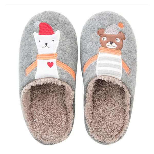 product image for Cute Holiday Bear Slippers