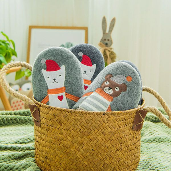 Cute Holiday Bear Slippers