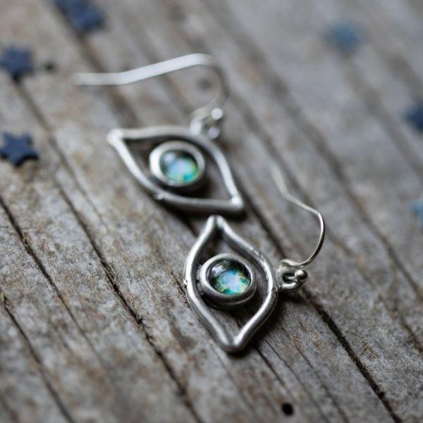 Eye of God Galaxy Earrings