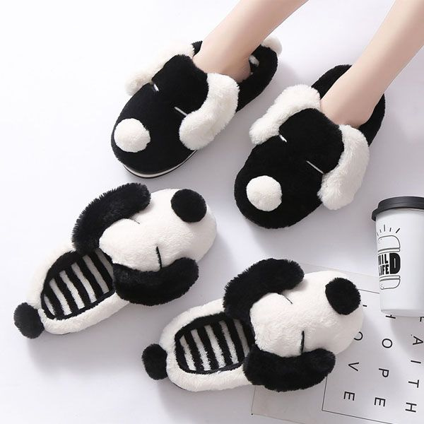 Plush Pup Slippers