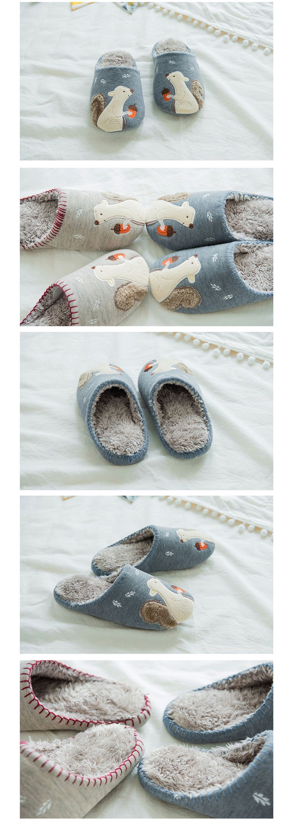 Squirrel Slippers Warm & Cozy