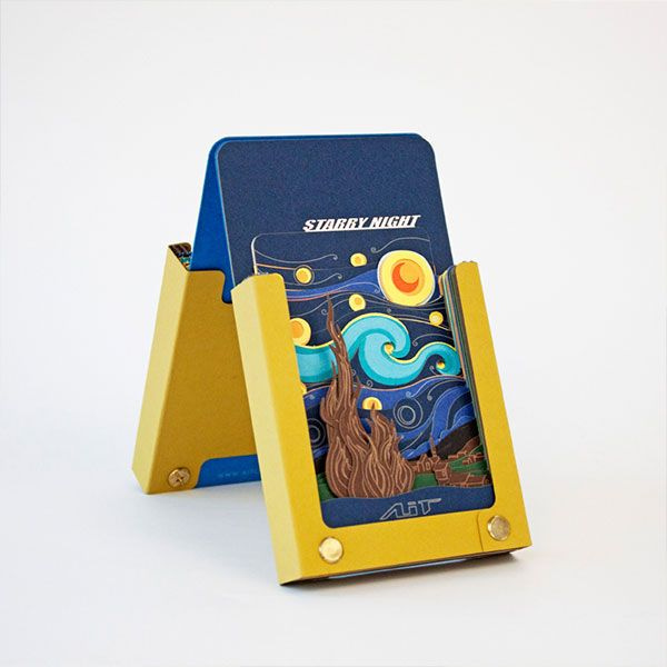3D Starry Night Notepad