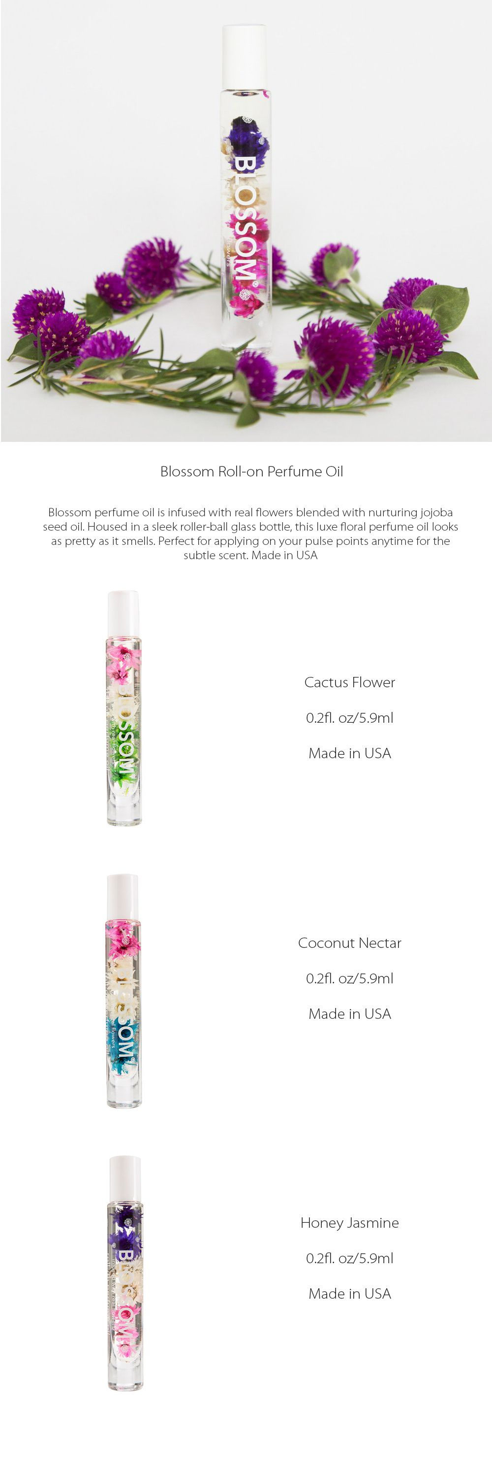 Blossom Roll-on Perfume Oil Fresh Fragrant Oil