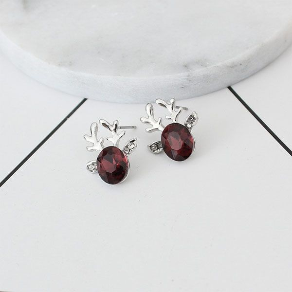 product image for Crystal Reindeer Stud Earrings