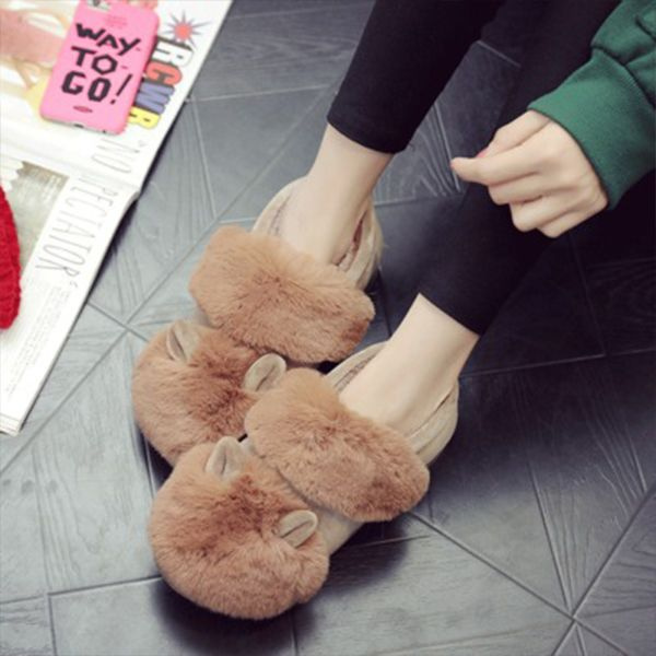 product thumbnail image for Cozy Cotton Ear Slippers