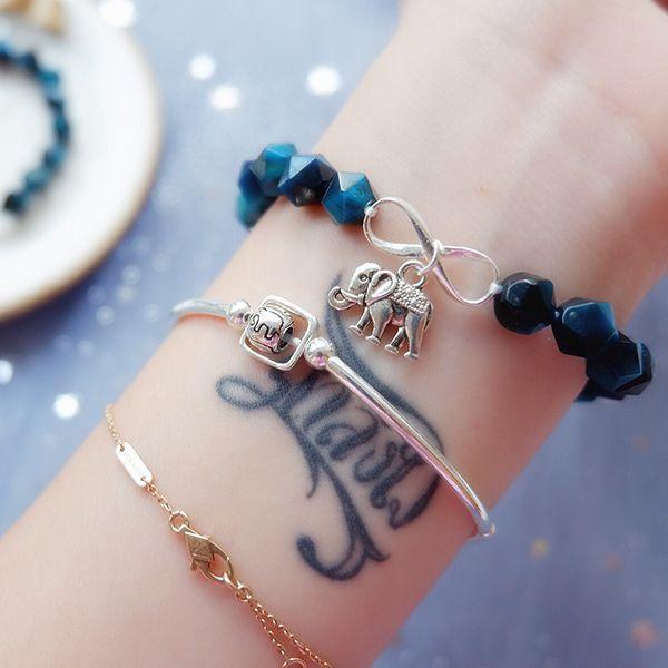 Blue Tiger Eye Crystal Bracelet