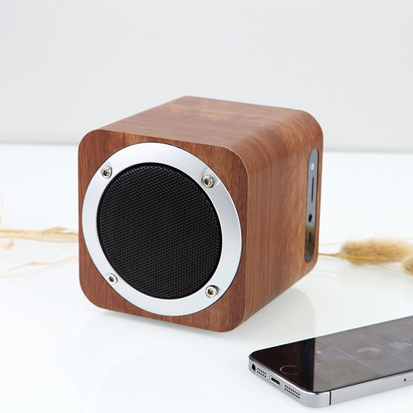 product thumbnail image for Wood Cube Bluetooth Speaker