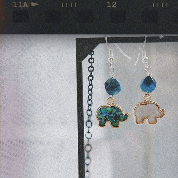 product image for Thai Elephant Crystal Earrings