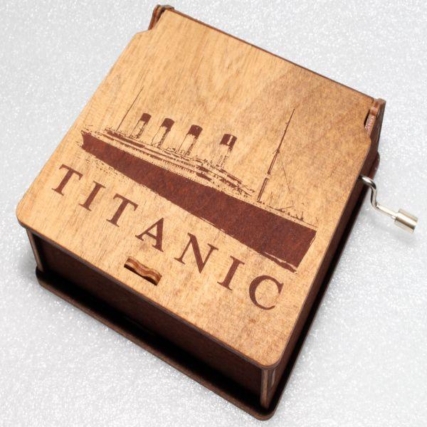 Titanic Wooden Music Box