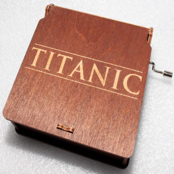 My Heart Will Go On #3 - Celine Dion - Titanic Ship Music Box - Engraved Wooden Box