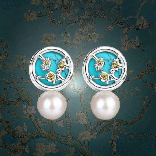Van Gogh Pearl Stud Earrings