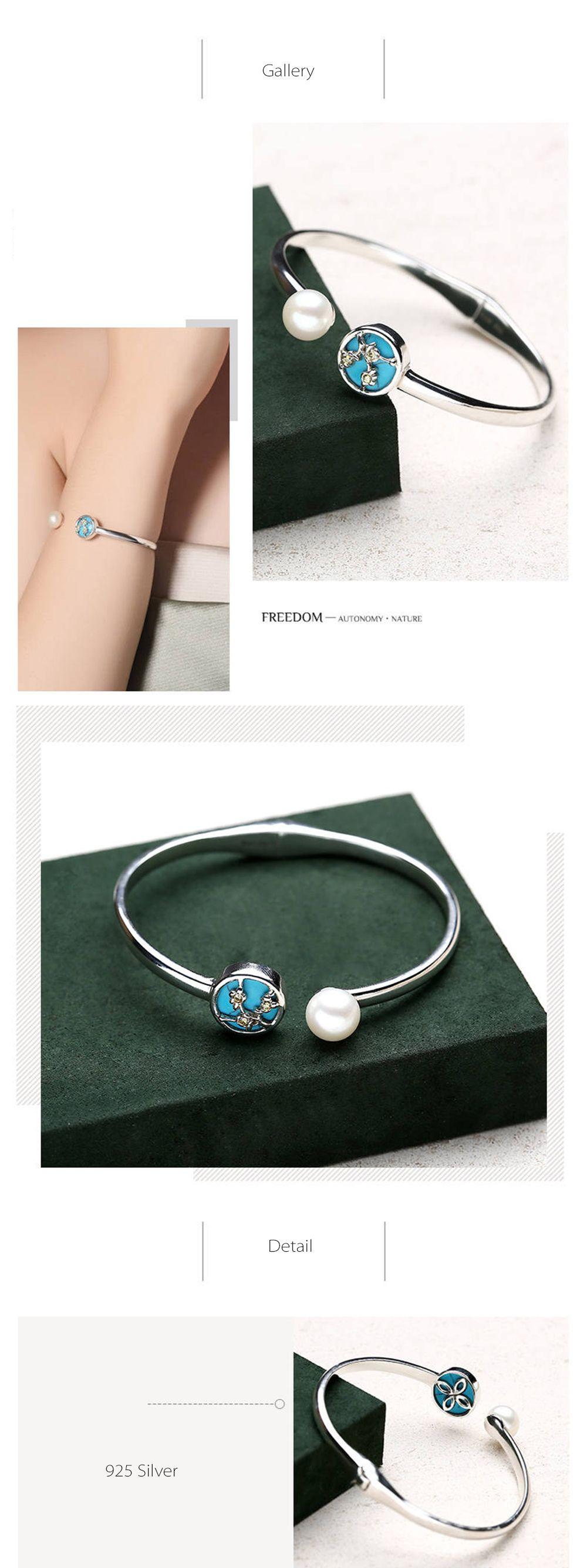 Sterling Silver Cuff Bracelet Adjustable Bracelet