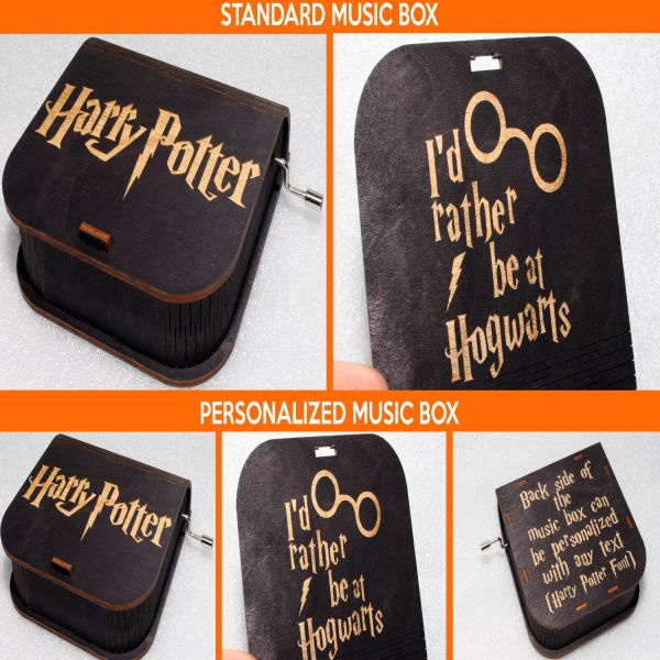 product image for Harry Potter Music Box - I'd Rather Be At Hogwarts